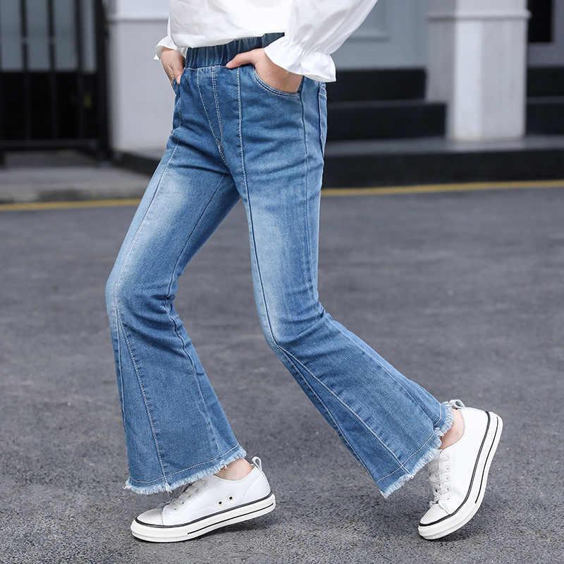 Pantalones De Campana De Fondo Para Ninos Vaqueros Delgados Azules Para Ninas Adolescentes Para Ninos Pantalon Moda Escolar Ninos Pantalones Ninas 10 12 Anos Pantalones Vaqueros Aliexpress