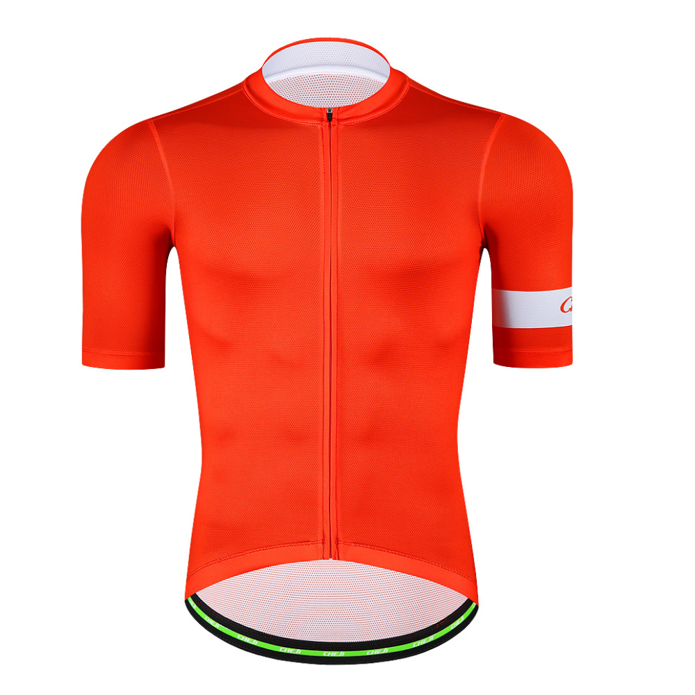 CHEJI 2018 Short Sleeve Men Cycling Jersey Breathable Quick Dry Pro Mtb Bike Shirt YKK Zipper Mens Cycling Clothing Sportswear