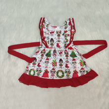 Fashion Frocks Design Summer Kids Clothes Cute Baby Girls Dress RTS Christmas Girls Party Dresses недорого