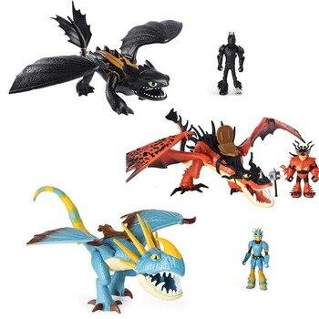 Cómo entrenar a tu dragón 3 muñeco de dragón decoración hipo juguete tormenta Snotout noche furia dientes de garfio Grimmel sin dientes regalos de los niños