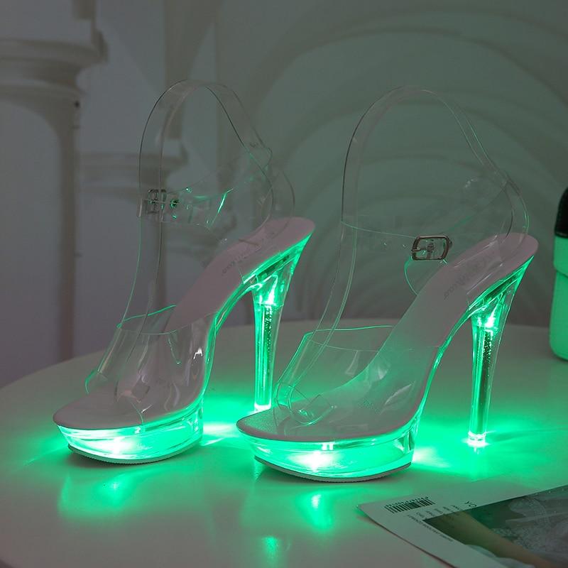 Light Up Glowing Shoes Woman Luminous