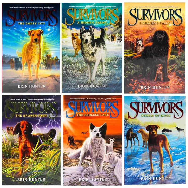 6 Books Set Survivors 1 6 The Empty City Darkness Falls Erin Hunter Adult  Young Teen Fantasy Science Fiction Novel English Book Literature & Fiction   - AliExpress