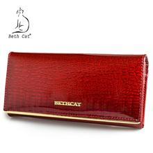 Beth Cat femmes portefeuille et sacs à main en cuir véritable femme porte carte porte monnaie dames sacs dargent Alligator vache portefeuilles