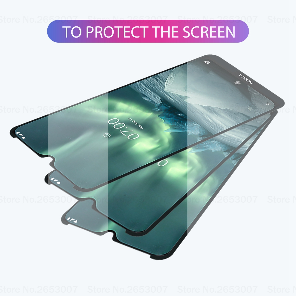 2PCS Tempered Glass For Nokia 7.2 9 2.2 4.2 3.2 8.1 7.1 5.1 Plus X5 Full Glue Screen Protector Tempered Glass For Nokia 9 8 7 3