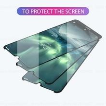 2PCS 9 de Vidro Temperado Para Nokia 7.2 2.2 4.2 3.2 8.1 7.1 5.1 Mais X5 Cola Completo Protetor de Tela de Vidro Temperado Para Nokia 9 8 7 3
