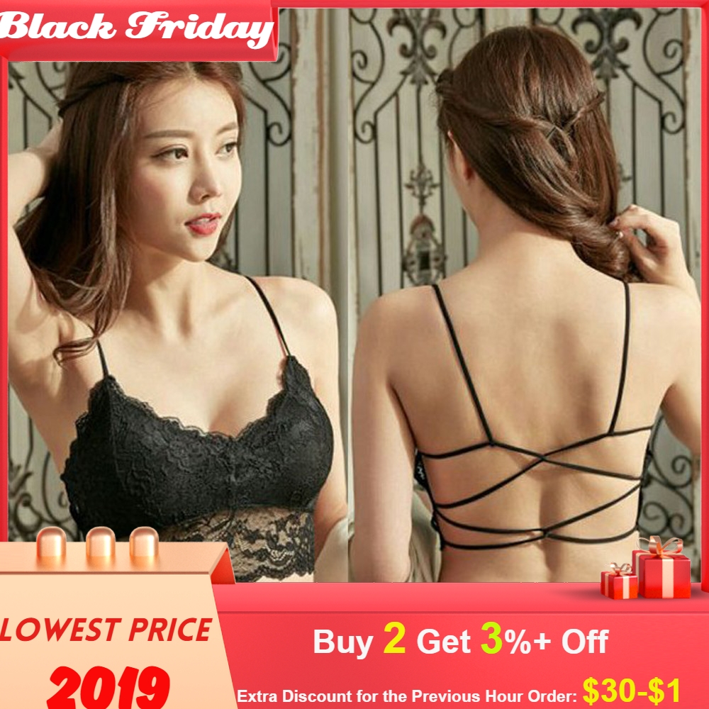 Lace Top Women Sexy Have A Chest Pad Wearing Sports Underwear Top Dentelle