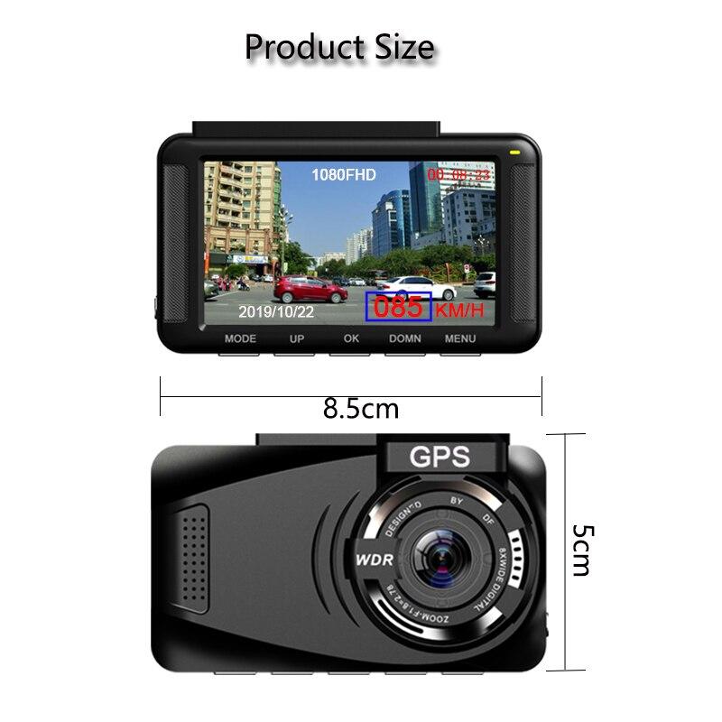 Jiluxing X06S FHD 1080P GPS positionnement voiture DVR vitesse Mini tableau de bord caméra enregistreur vidéo enregistreur automatique vision nocturne enregistrement en boucle - 5