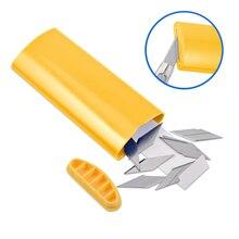 Ehdis profissional lâminas de lixo disposer bolso para 30 graus aço snap fora baldes faca filme de papel cortador de vinil ferramentas armazenamento