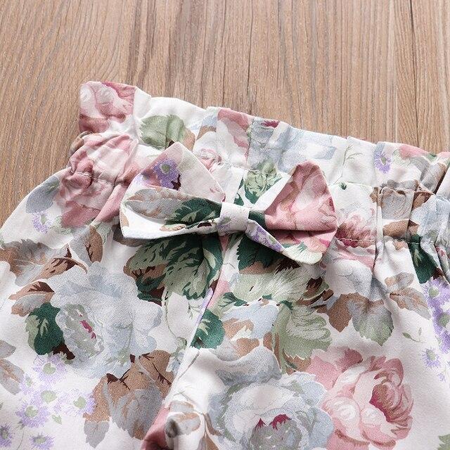 Baby Girls Long Sleeve Tops Flower Pants Headband Cute 3Pcs Toddler Clothing 5