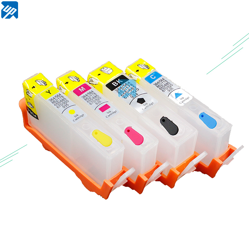 UP brand 10sets For 670 Refillable Ink Cartridge with Permanent Chip work on Deskjet 3525 4615