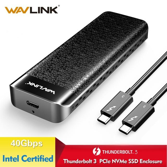 Wavlink USB C Thunderbolt 3 NVME External SSD Enclosure Type C NVMe connector Excellent Dissipation Intel Certified