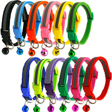 30/50pcs Pet Dog Cat Pet Reflective Collar with Bell Dog AccessoriesTie Puppy Cat Small Middle Dogs Collar Decoration Products