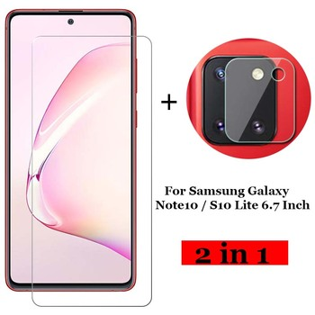 Перейти на Алиэкспресс и купить 2-в-1 закаленное стекло для Samsung Galaxy Note10 Note 10 / S10 Lite 6,7 дюймЗащитная пленка для объектива камеры Защитное стекло для экрана