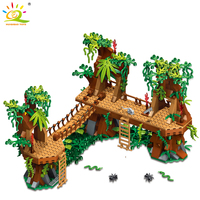 686pcs My World Wasteland Old Tree Village Minecrafted Building Block Legoing DIY Bricks Dragon Education Toys For Kids