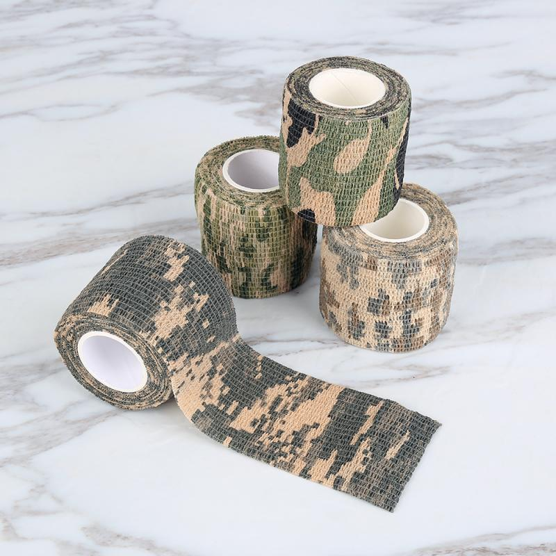 1 ROLL 5cmx4.5m Army Camo Outdoor Hunting Shooting Tool Camouflage Stealth Tape Waterproof Wrap Durable Bike Camo Sticker