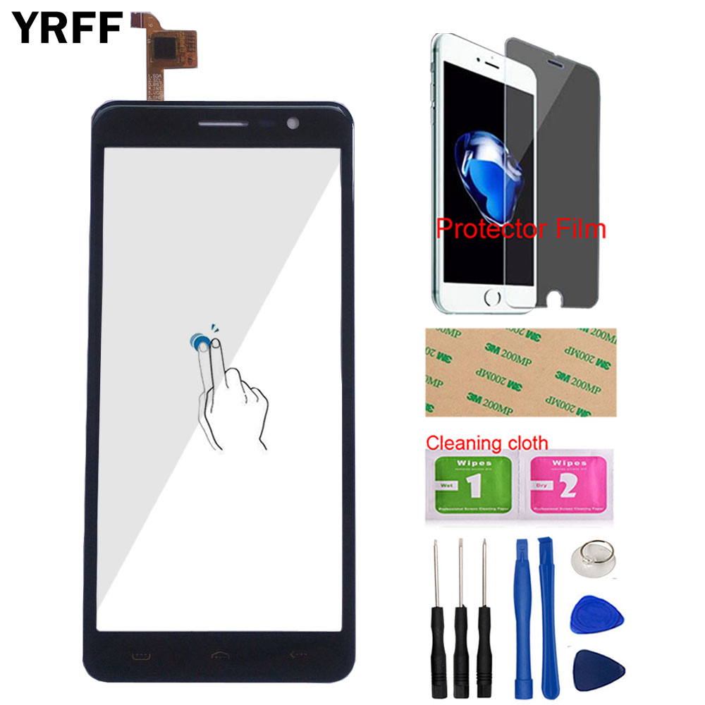 Phone Touch Screen For Homtom S12 Touch Screen Digitizer Panel Front Glass Touchpad Sensor Replacement Tools Protector Film