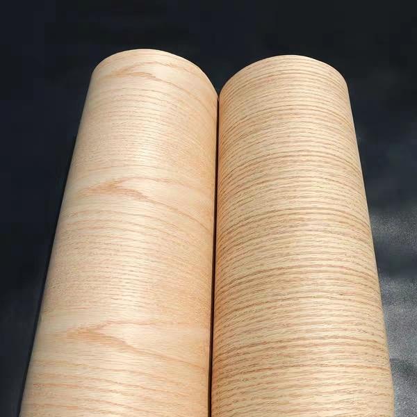 Natural Crown Cut Red Oak 2500*600*0.25mm Craft Paper Wood Veneer