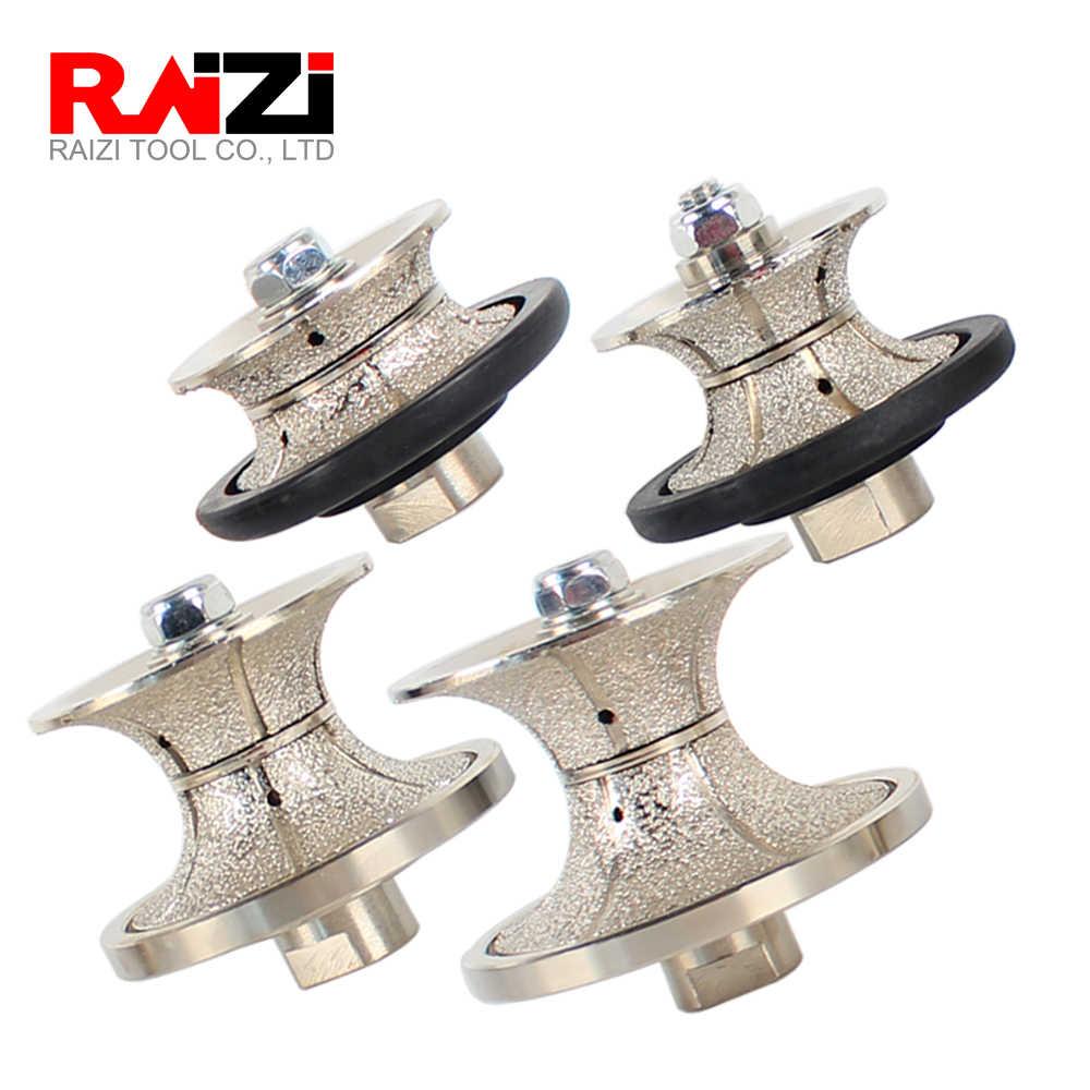 Head Radius 18 mm Raizi 1//2 inch Shank Vacuum Brazed Demi Bullnose Diamond Profile Router Bit
