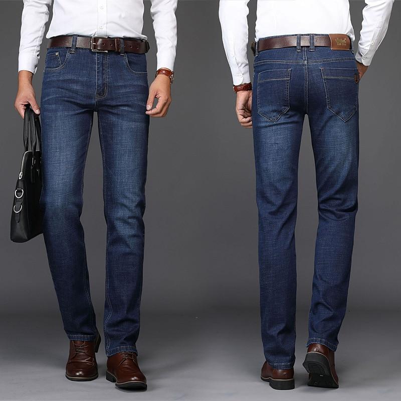 2018 Kin Don MEN'S Jeans Straight Slim Men'S Wear Business Casual Brand Jeans MEN'S Long Trousers