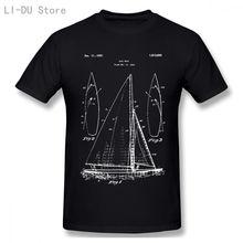 Модная мужская футболка с принтом в виде парусника план дизайна