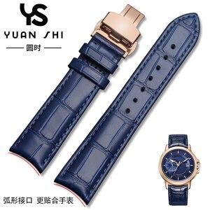 Ремешок для часов с изогнутым концом из натуральной кожи, мягкий, водонепроницаемый, высокое качество, универсальный браслет, коричневый, ч...