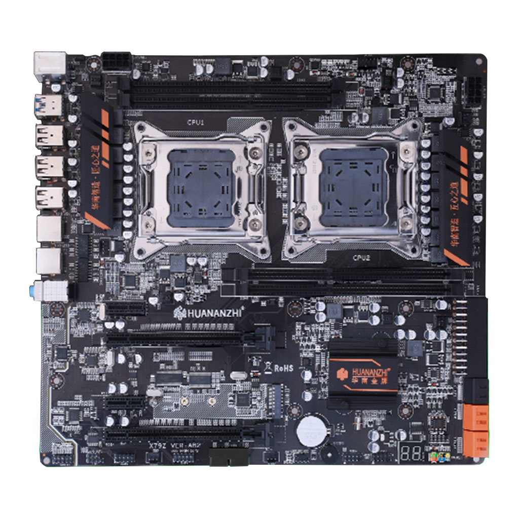 X79 dual CPU motherboard LGA 2011 E-ATX USB3.0 SATA3 with dual Xeon processor