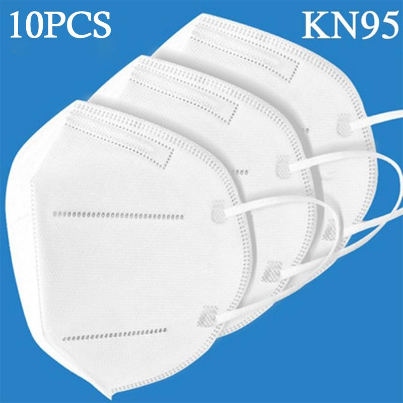 1/10/20pcs Anti Pollution N95 Mouth Mask Dust Respirator Reusable KN95 Mask FFP3 FFP2 FFP1 Mouth Cover For Allergy/Asthma/Travel