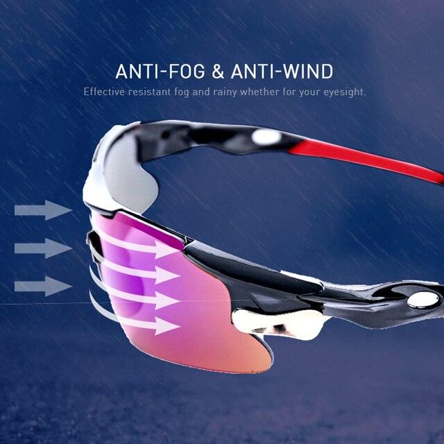 2020 novo esporte ao ar livre ciclismo eyewear mountain bike bicicleta óculos uv400 das mulheres dos homens esportes óculos de sol caminhadas correndo à prova vento 3