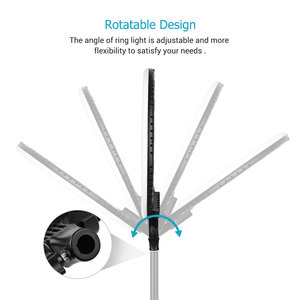 Image 3 - 18 Inch LED Ring Light Photography Lighting 3200K 5600K Stepless Dimmable with 3 Phone Holders Remote Control for Live Streaming