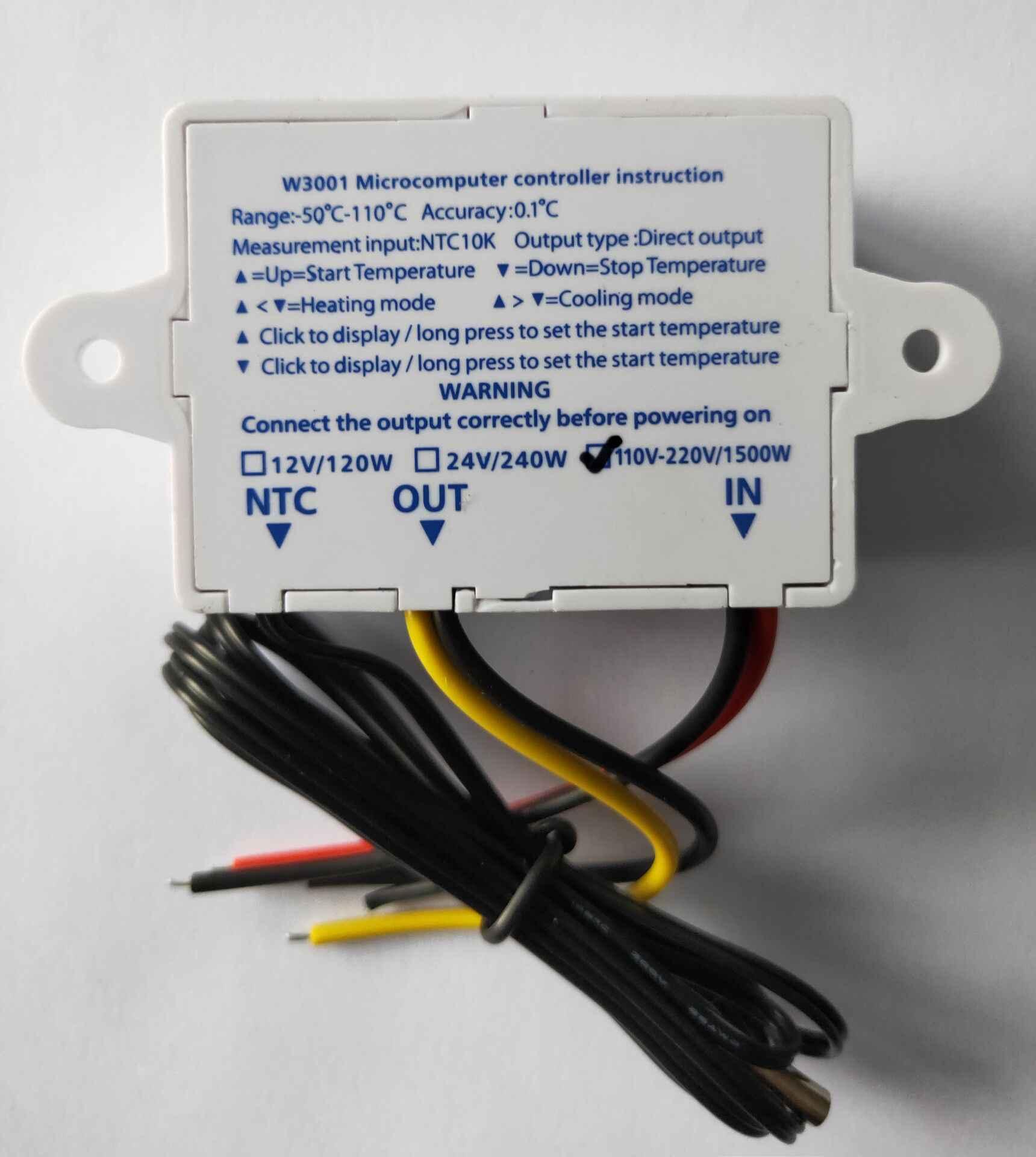 W3001 12V 24V 220V régulateur de température numérique thermostat aquarium chauffe-eau régulateur de température