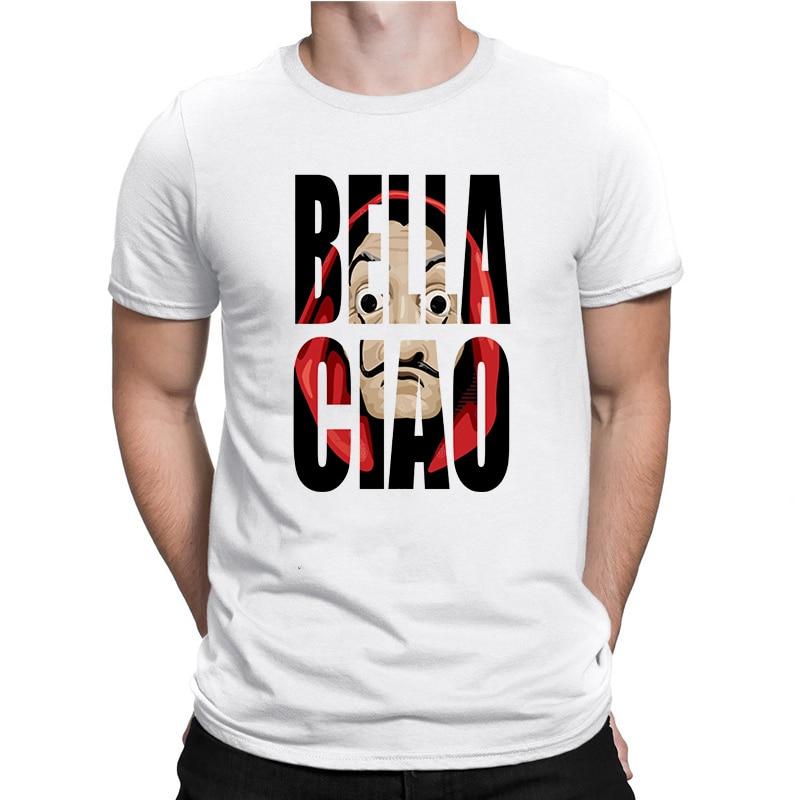 La Casa De Papel hommes t-shirts argent casse TV hommes manches courtes coton t-shirts pour garçons maison De papier T-Shirt hommes hauts