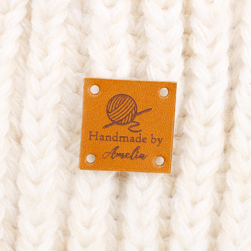 Custom Leather <font><b>Label</b></font>-Nähen Stricken Etiketten-Stricken Tags Für Hüte-Stricken zubehör, DIY Sewing Supplies (PB3135) image