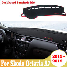 For Skoda Octavia A7 2015 -2019 car dashboard cover anti-slide pad dashmat sun shade dash board cover carpet car-styling mat