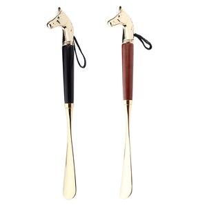 Image 4 - Металлическая рожковая ручка для обуви, длинная ручка для удаления обуви, прочная ручная рожка для обуви 32 см
