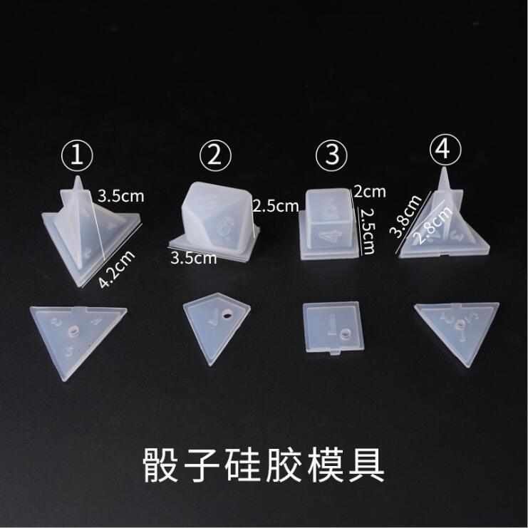 Image 4 - DIY Crystal Epoxy Mold Dice Fillet Shape Multi spec Digital Game High Mirror dice mold silicone Mould MakingJewelry Tools & Equipments   -