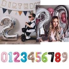 16 32 40 polegada número balão crianças aniversário festa de casamento suprimentos decorações do chuveiro do bebê balões digitais feliz newyear2021
