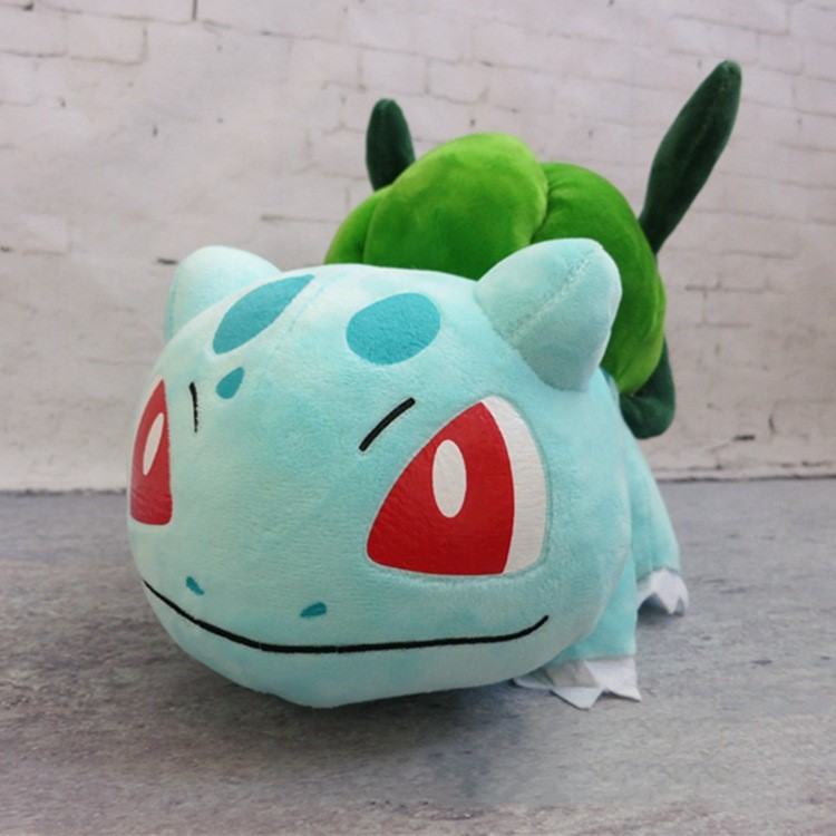 Large Size Animals Bulbasaur Plush Soft Toys Sleeping Pillow Doll For Kid Birthday Gifts 35CM