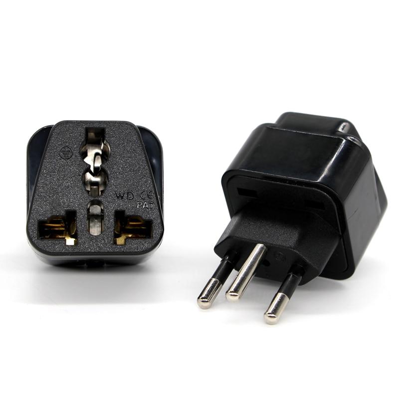 Universal Black Copper 10A 250V EURO UK AU USA EU to Swiss Switzerland Suisse 3 Pin AC Power Plug Converter Travel Adapter