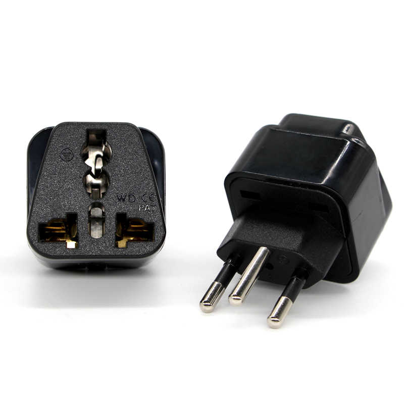 Uniwersalny czarny miedzi 10A 250V EURO w wielkiej brytanii stany zjednoczone ue do szwajcarska szwajcaria Suisse 3 Pin AC moc konwerter wtyczki adapter podróżny