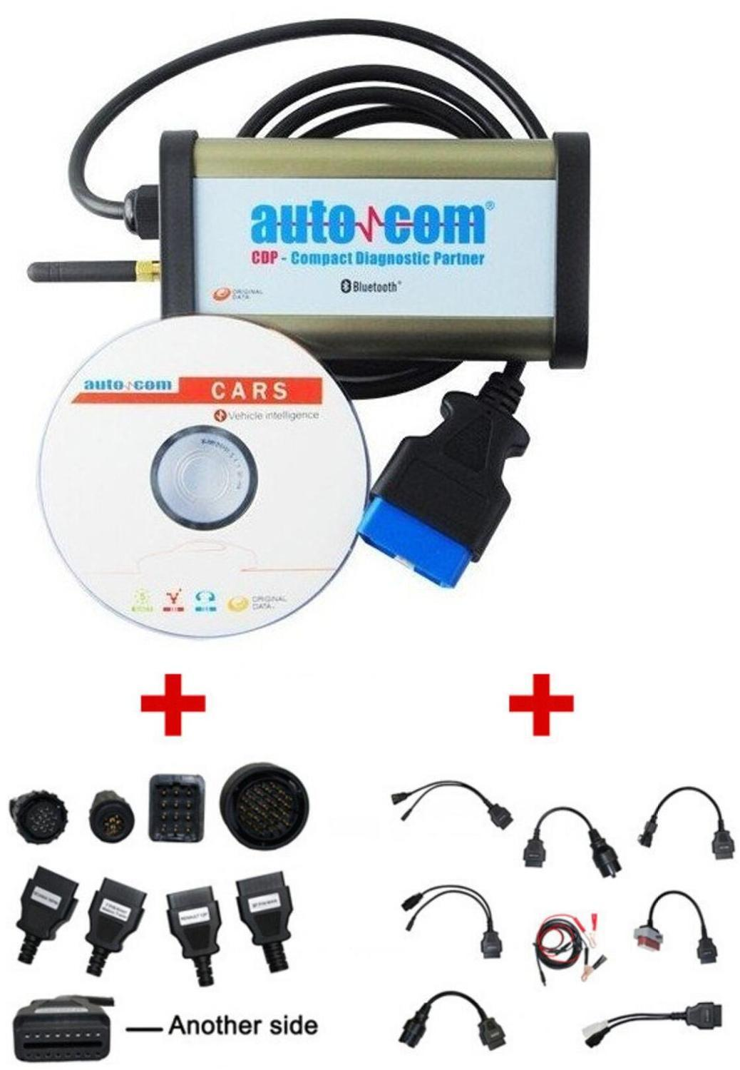 2020 Newest Bluetooth for Autocom CDP Pro Diagnostic 3 in 1 for Cars & Trucks Plus Full Cables & Truck Cables--DHL Free Shipping