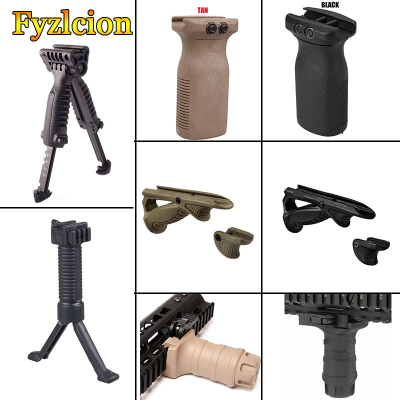ABS Tactical Archery Foregrip Handle Grip Folding Bipod Grip Handle Foregrip For M4 M16 AR15 Rifle Accessory