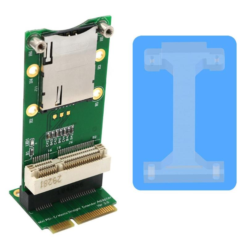 <font><b>Mini</b></font> <font><b>PCI</b></font> <font><b>Express</b></font> to SIM Connector Adapter Card with SIM Card Slot for WiFi 3G 4G WWAN LTE <font><b>GPS</b></font> Module Vertical Mounting image