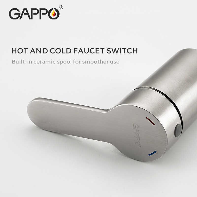 Gappo シャワー蛇口セット浴室の真鍮浴槽のシャワーの蛇口風呂シャワータップクロームシャワーヘッド壁ミキサータップ robinet 階