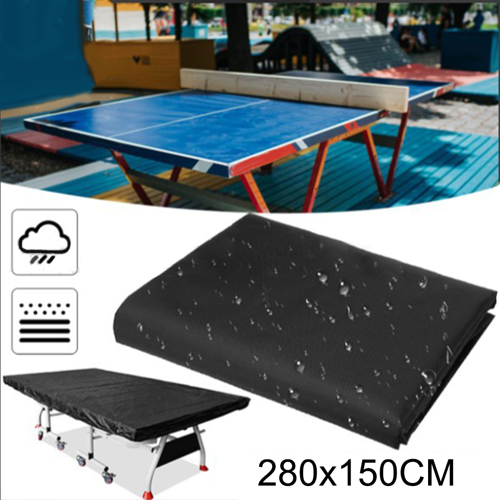 280cm Indoor Outdoor Ping Pong Table Sun Shade Black Cover Waterproof Dustproof Table Tennis Sheet UV Protection Anti-Dust May7