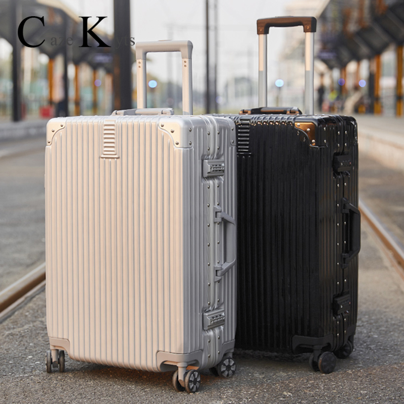 New women Travel Suitcase luggage bag Business trolley Boarding Silent Roller Cabin password box Suitcase for men free shipping