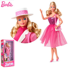 Original Barbie The Day and Night Doll Suit Drive Gift Box Collection Limited Girl Princess Dress Up Change Outfit Toy FJH73
