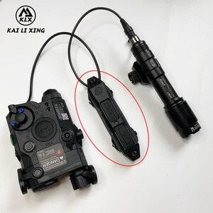 Elemento táctico, interruptor de presión de aumento Airsoft, interruptor doble para PEQ-15 PEQ-16A y peq airsoft DBAL 2 NE04040
