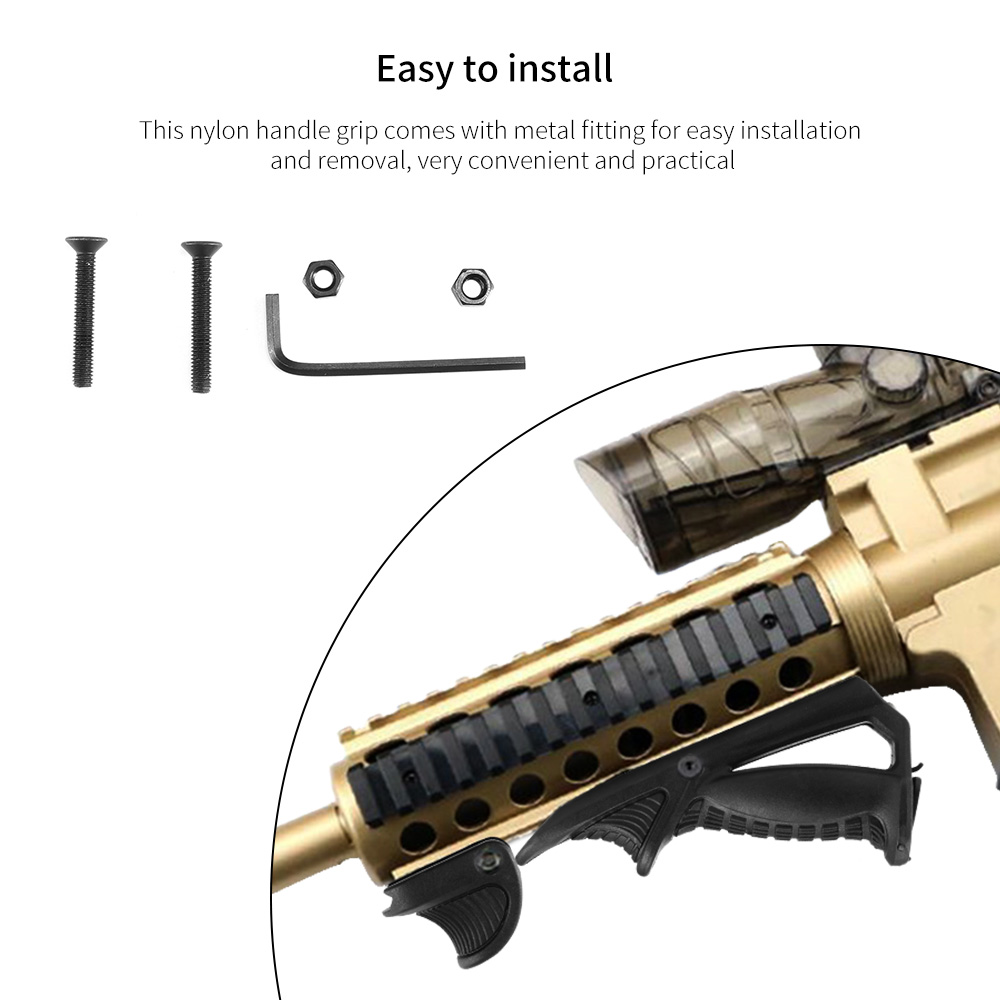Tactical Airsoft Front Grip Tripod Track Shooting Game Accessories Hunting Military Paintball Accessories
