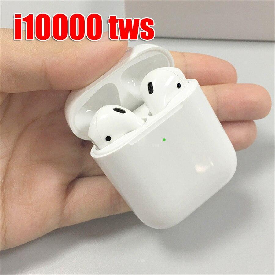 I10000 tws bluetooth fone de ouvido de carregamento sem fio controle toque fones tws i10000 1:1 tampa aberta pop up capacidade real