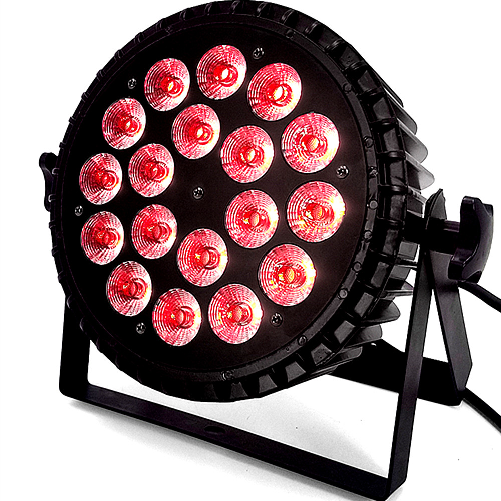 Aluminum Alloy 18x18W RGBWA UV 4in1 5in1 6in1 LED Par DMX512 For Discos Music Stage Effect Disco Lamp Stage Light